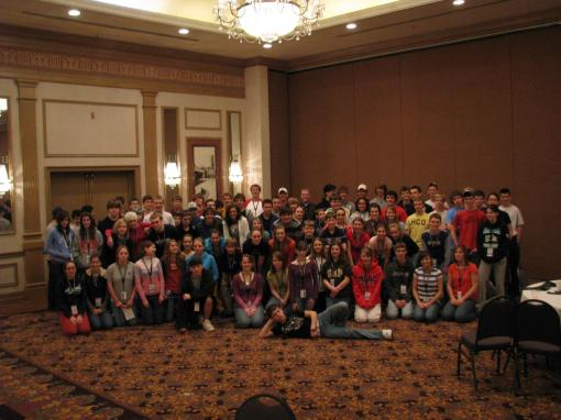 7th-12th graders representing 8 churches from 4 states